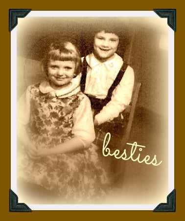 Wendy & Giny... 1st grade circa 1963