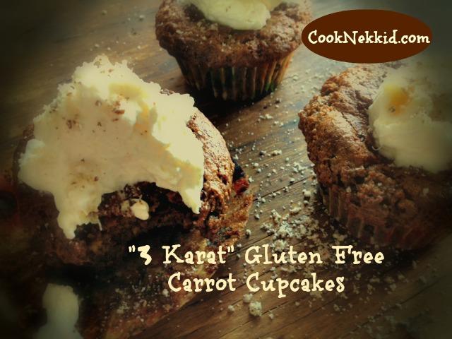 "...""3 Karat"" Gluten Free Carrot Cupcakes"