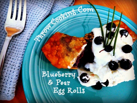 Blueberry & Pear Egg Rolls