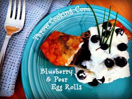 Blueberry & Pear Egg Rolls