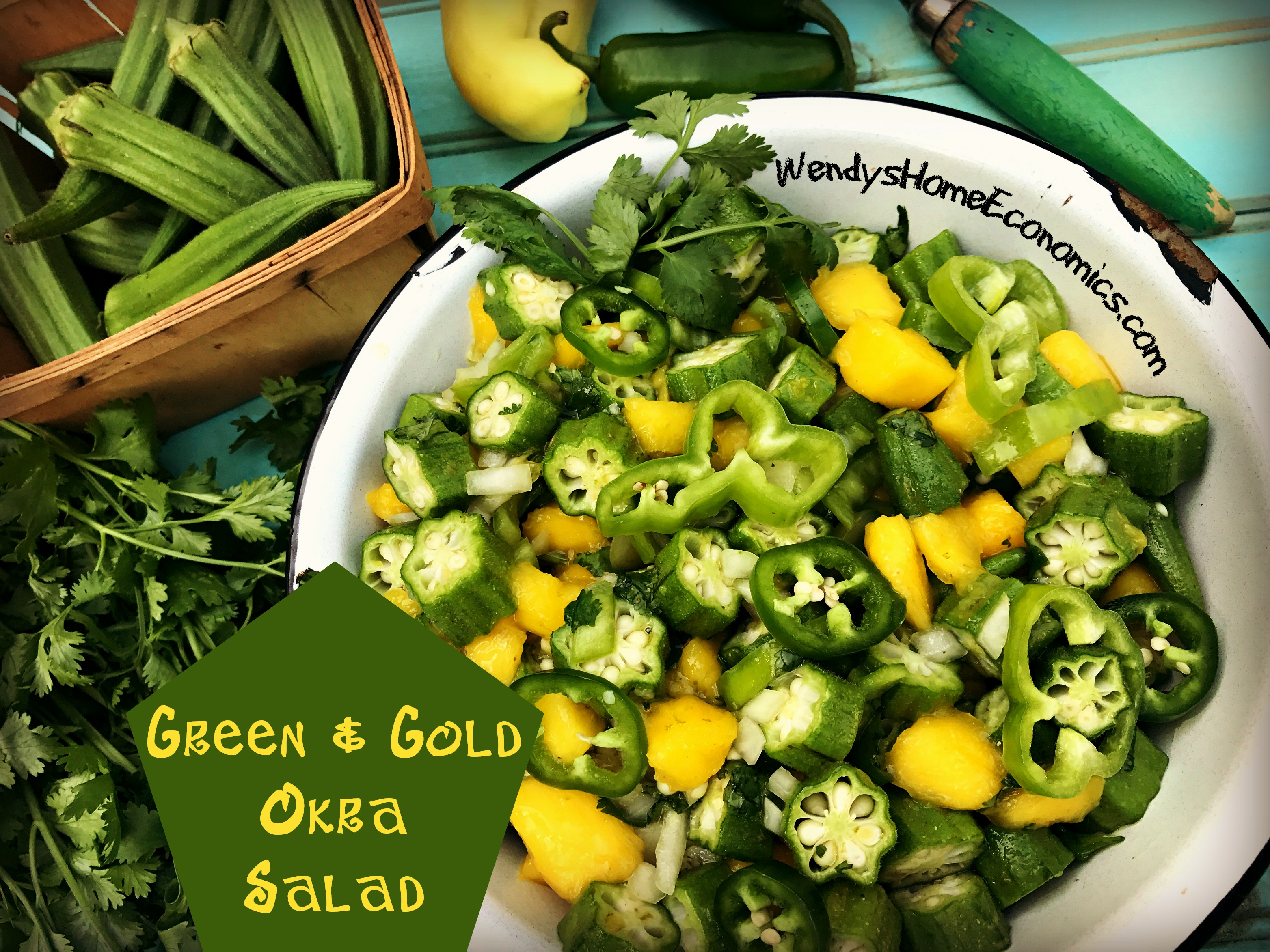 Green and Gold Okra Salad