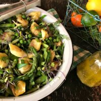Spring Green Veggie-Pasta Salad with Citrus Vinaigrette