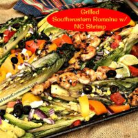 Grilled Southwestern Romaine with North Carolina Shrimp