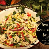 Summer Corn and Crab Salad with honey citrus dressing