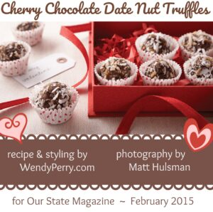 Cherry Chocolate Date Nut Truffles