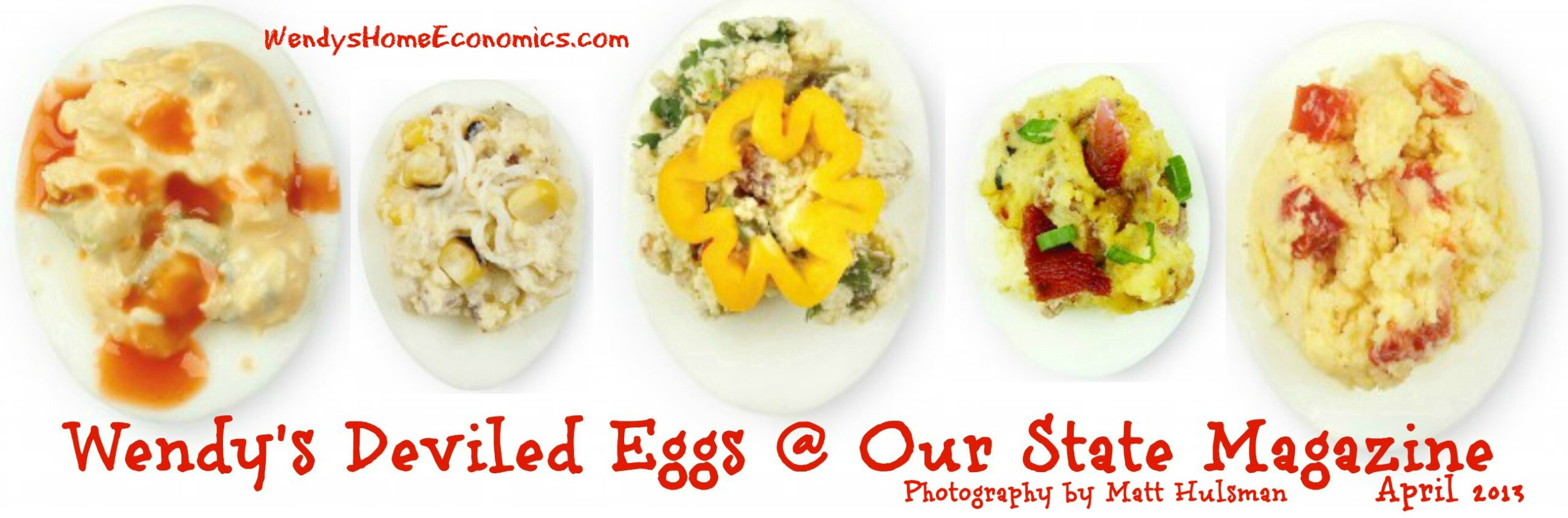 Wendy's Deviled Eggs at Our State Magazine