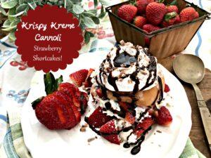 Krispy Kreme Cannoli Strawberry Shortcakes