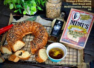 Orange-y Everything Beer Bread with Mediterranean Dipping Oil