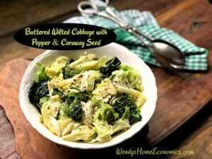 Buttered Wilted Cabbage with Pepper & Caraway Seed