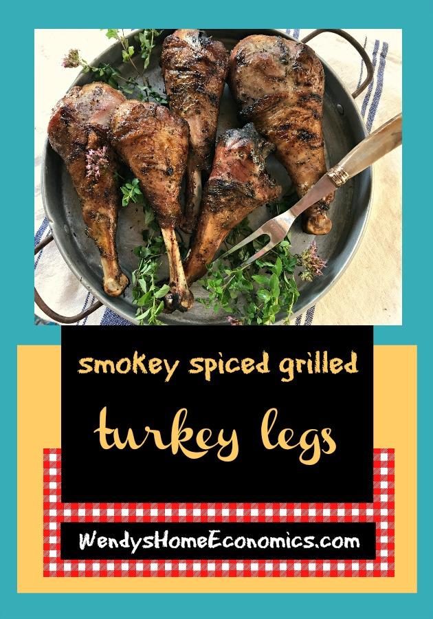 Smokey Spiced Grilled Turkey Legs