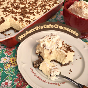 Woolworth's Café Cheesecake with Gingersnap Crust