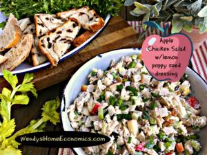 Chicken Salad with Apples & Lemon Dressing